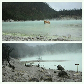Air di Kawah Putih bisa berubah-ubah warna (nisbroth)